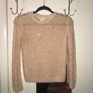 Light Pink Fuzzy Sweater